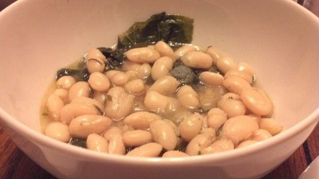 white beans and greeens
