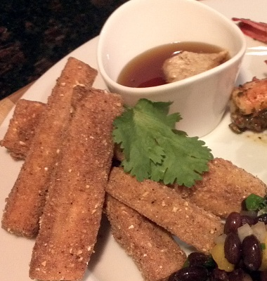 Yuca Fries with Stone Ground Mustard and Honey Dipping Sauce