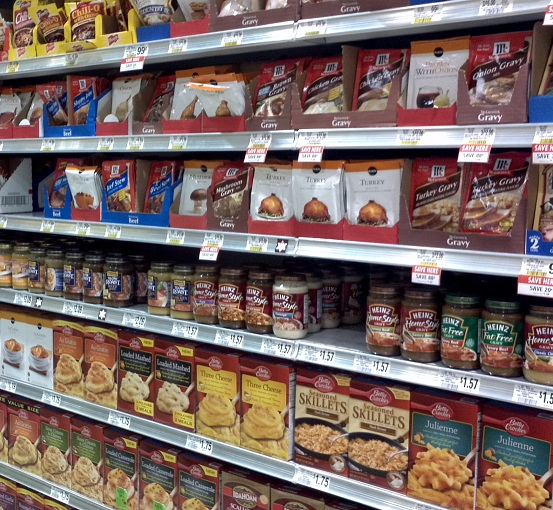 A good example of processed foods